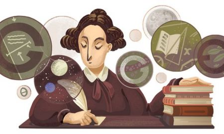 mary somerville doodle:Google changes the logo of its homepage to recognise special events, achievements or people